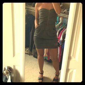 Grey strapless Body Central dress w/zipper-NWT